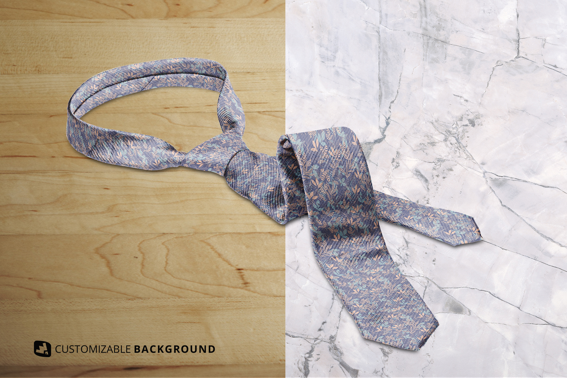 background options of the men's formal tie mockup