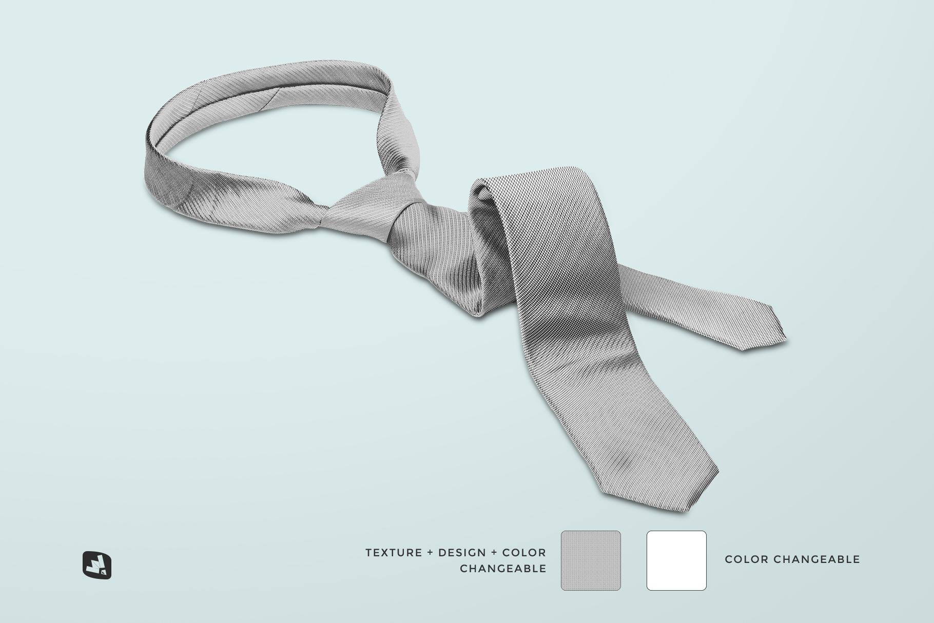 editability of the men's formal tie mockup