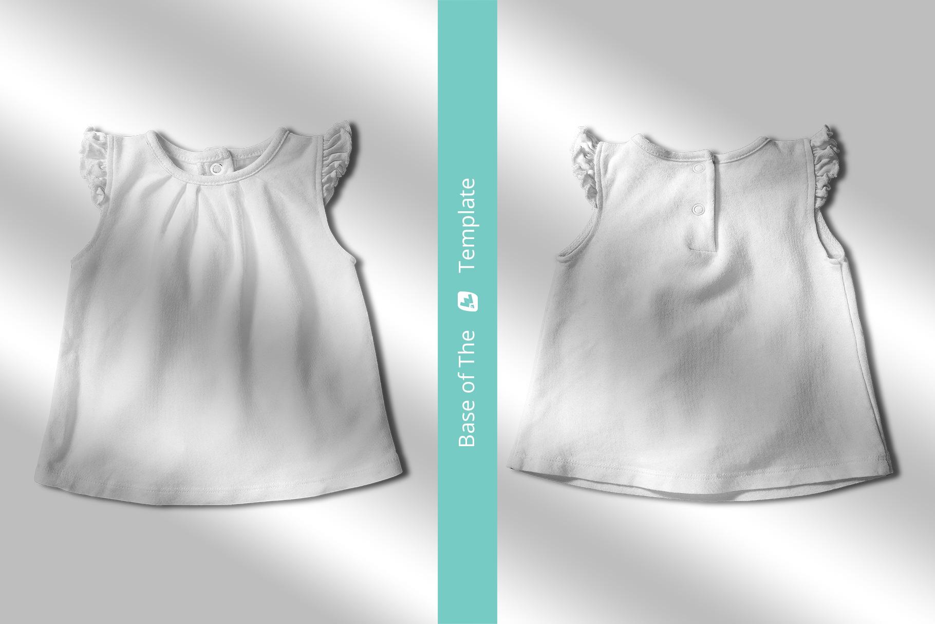 base image of the ruffle sleeve baby girl top mockup