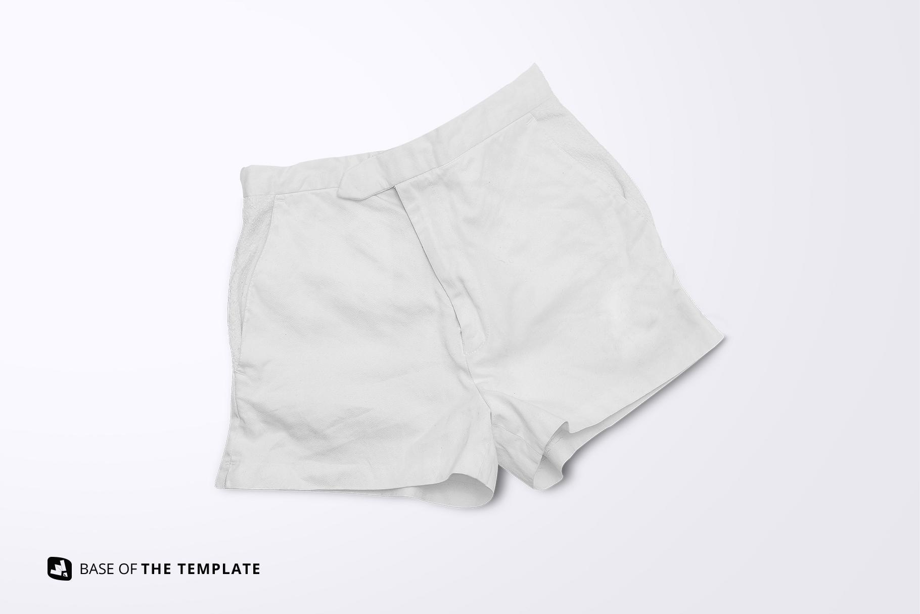 base image of the female cotton hot pants mockup
