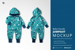 baby hoodie jumpsuit mockup