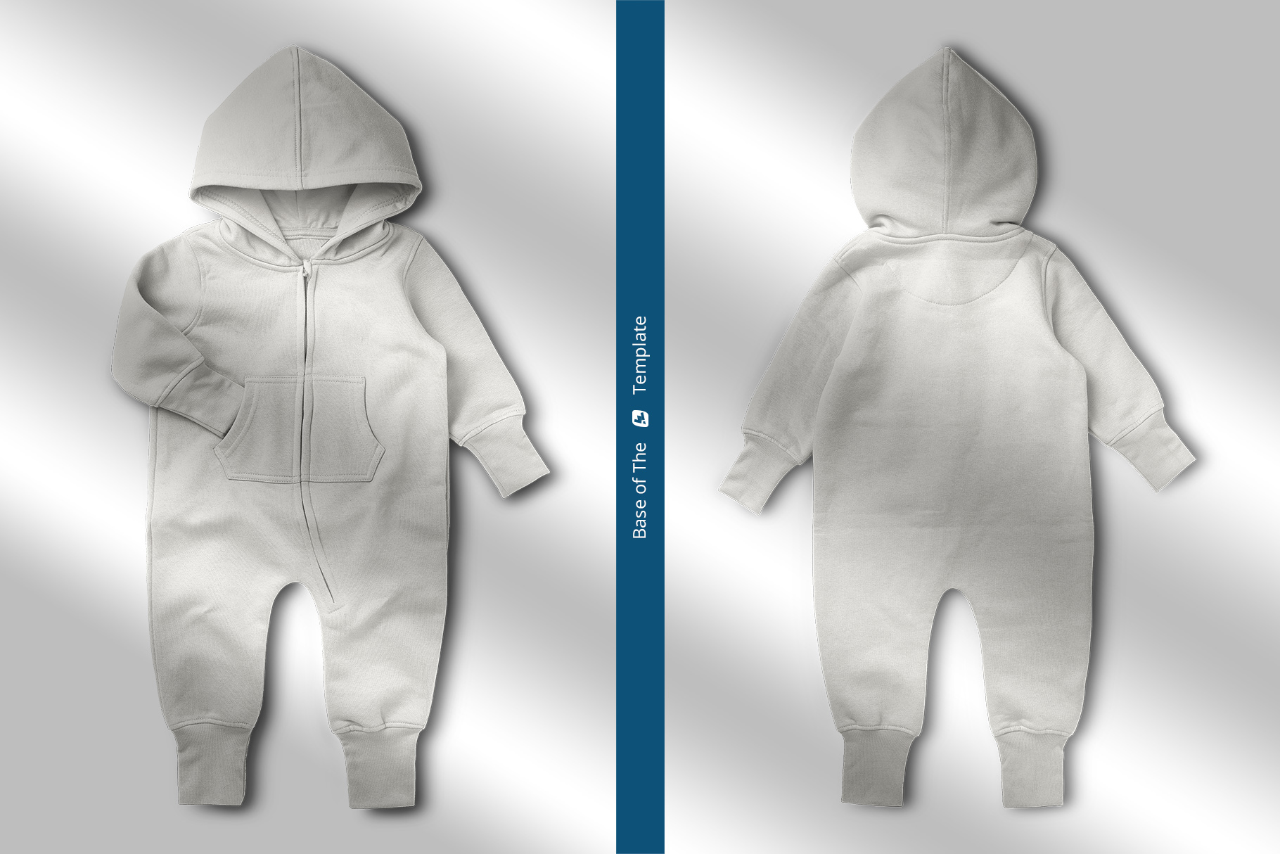 base images of the baby hoodie jumpsuit mockup