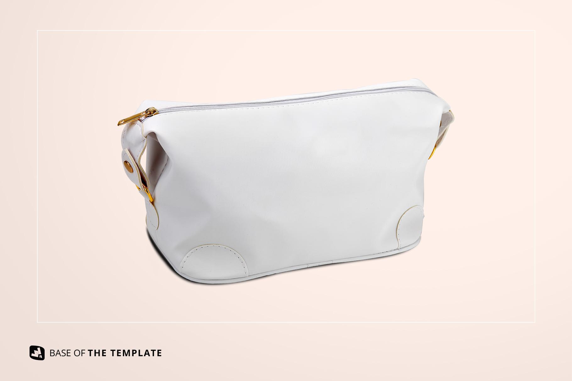 base image of the leather makeup bag mockup