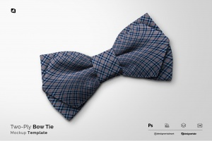 two-ply bow tie mockup