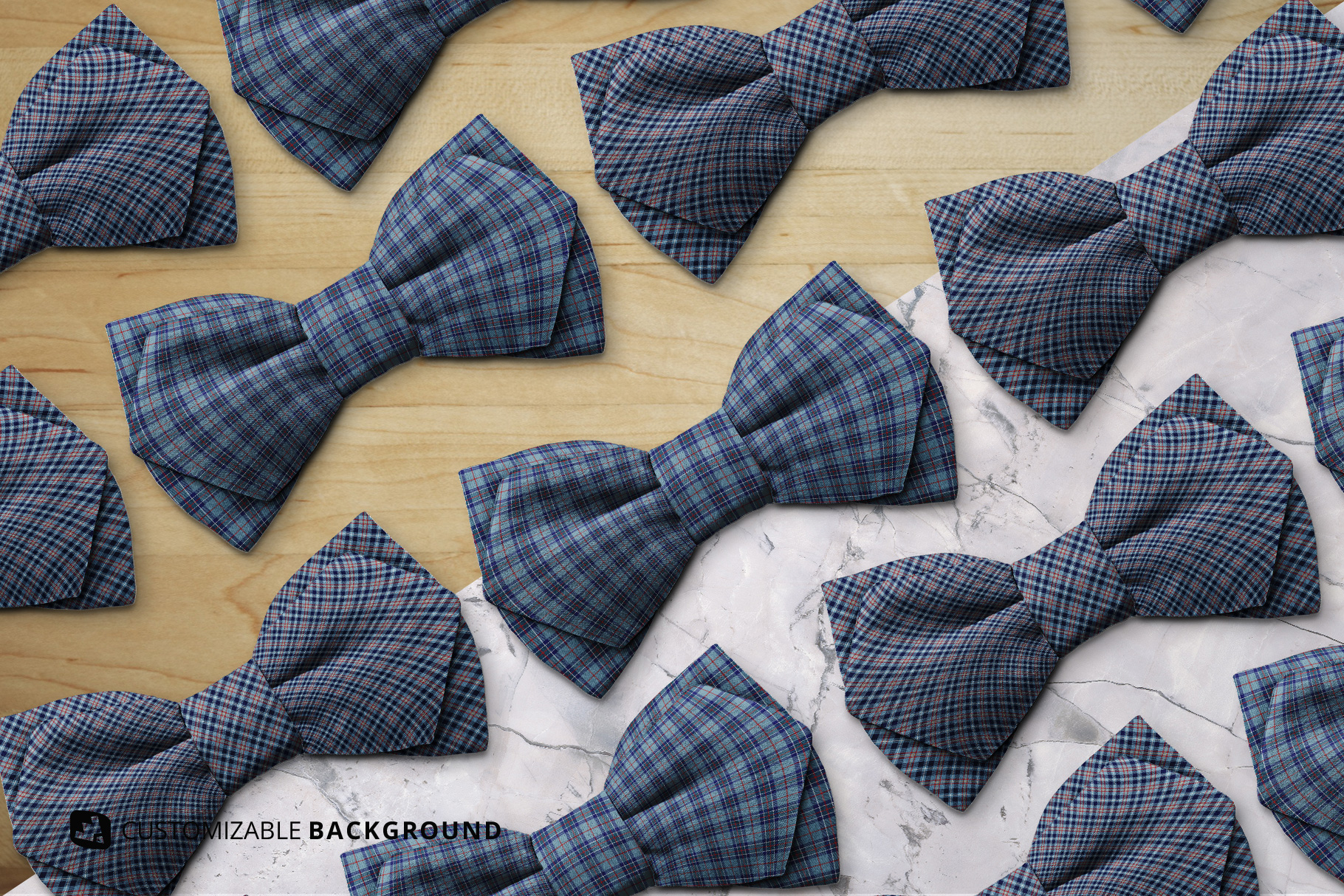 change background options of the two-ply bow tie mockup
