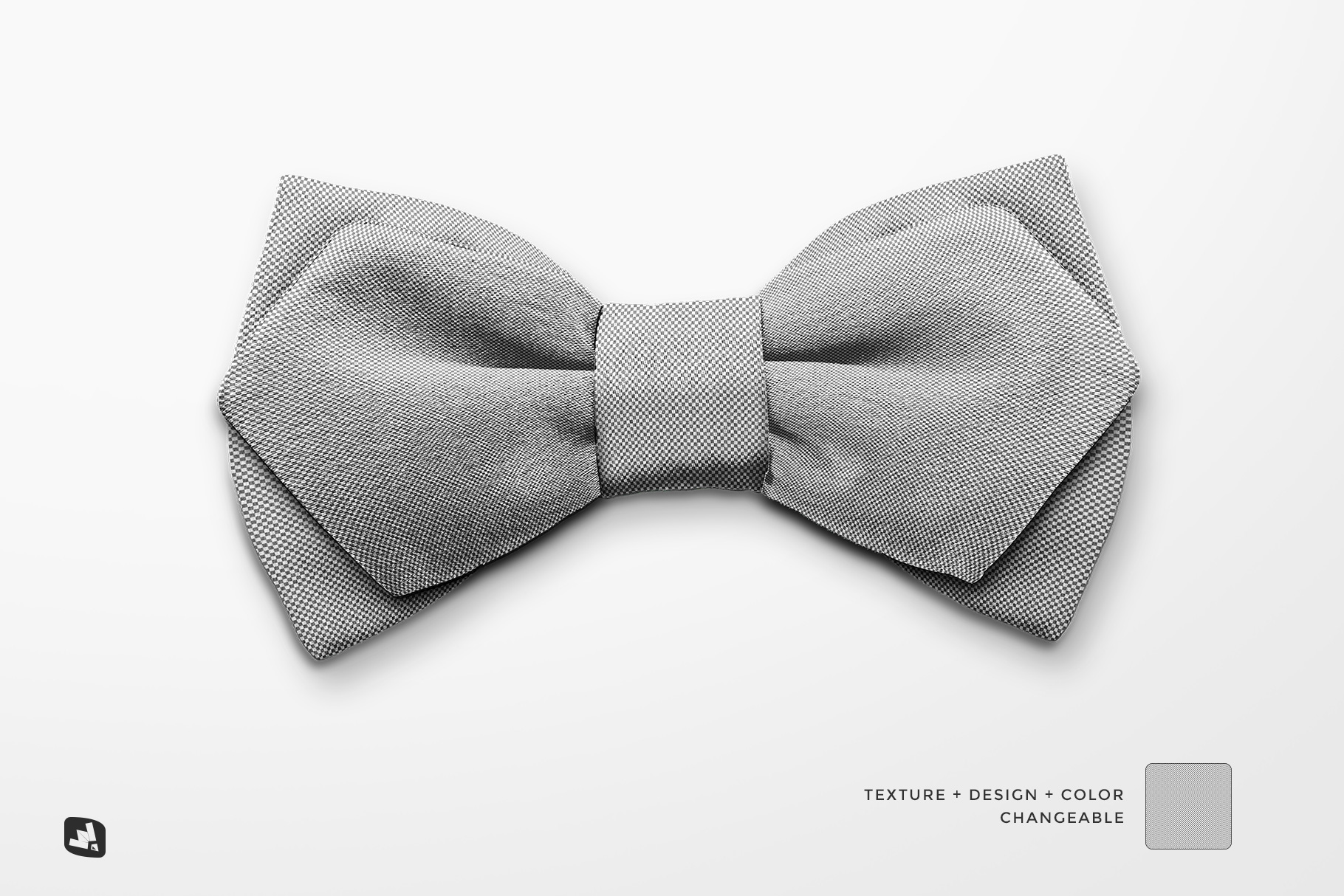 editability of the two-ply bow tie mockup