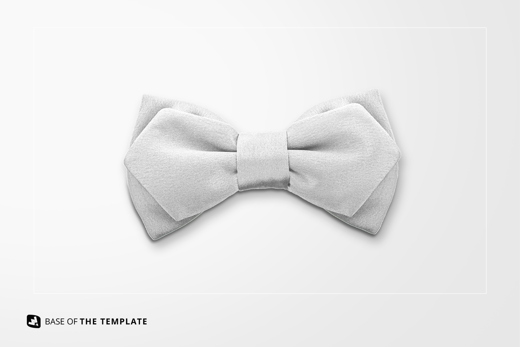 base image of the two-ply bow tie mockup