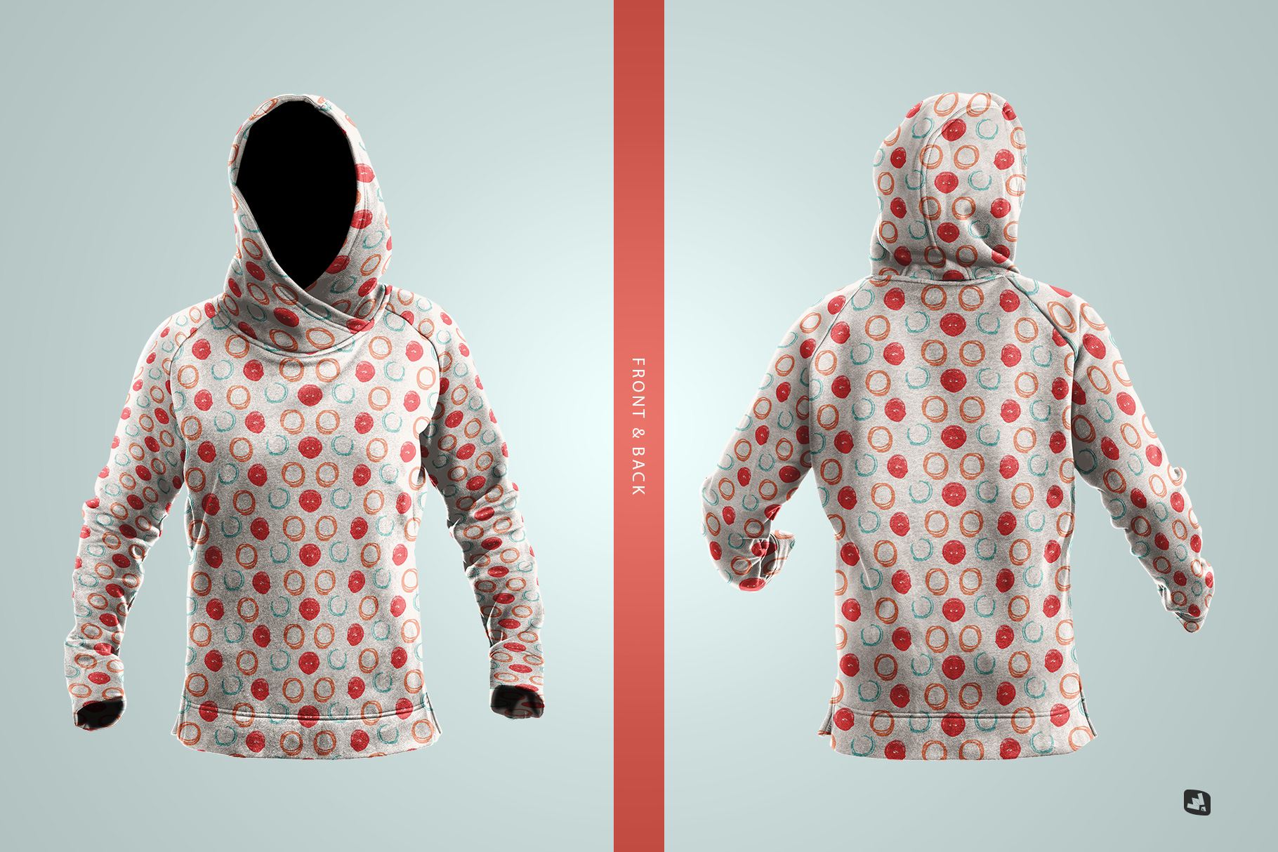 inside the files of the female wrapped hoodie set mockup