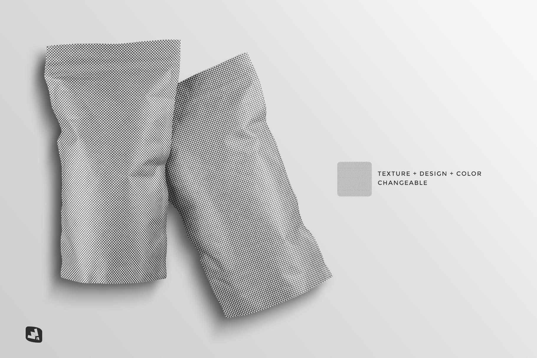editability of the tall kraft paper packaging mockup