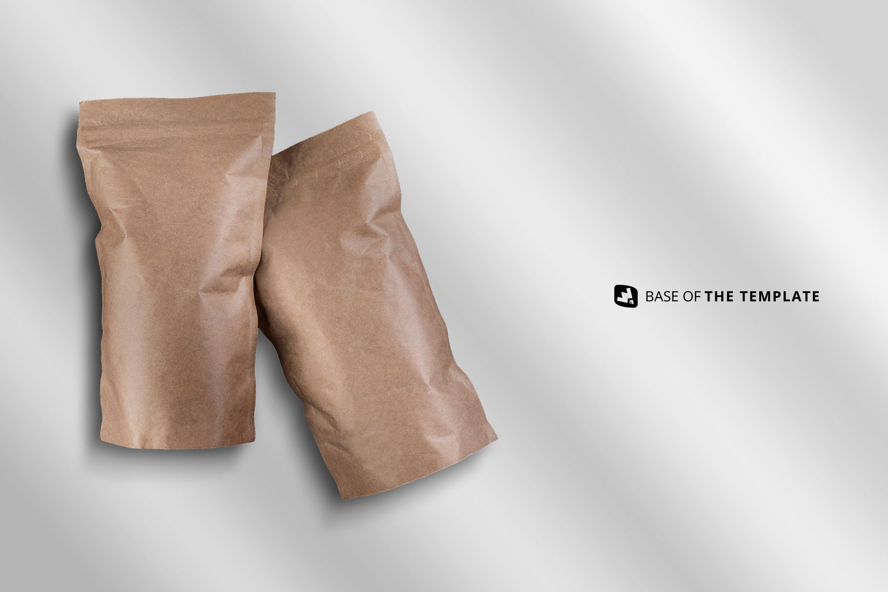 base image of the tall kraft paper packaging mockup