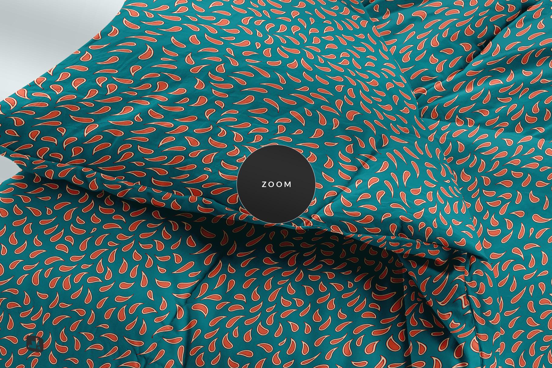 zoomed in image of the folded comforter blanket mockup