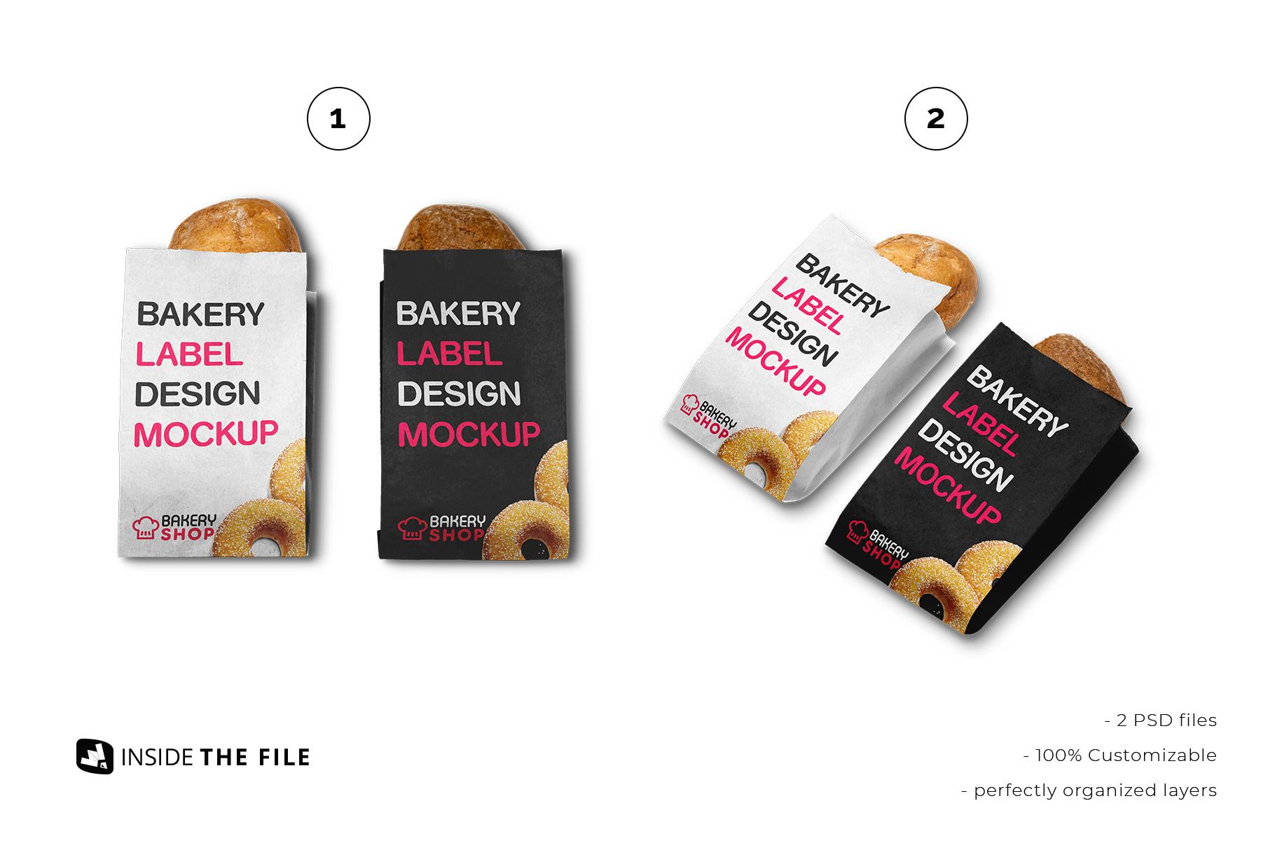 inside the file of the kraft paper bakery branding mockup