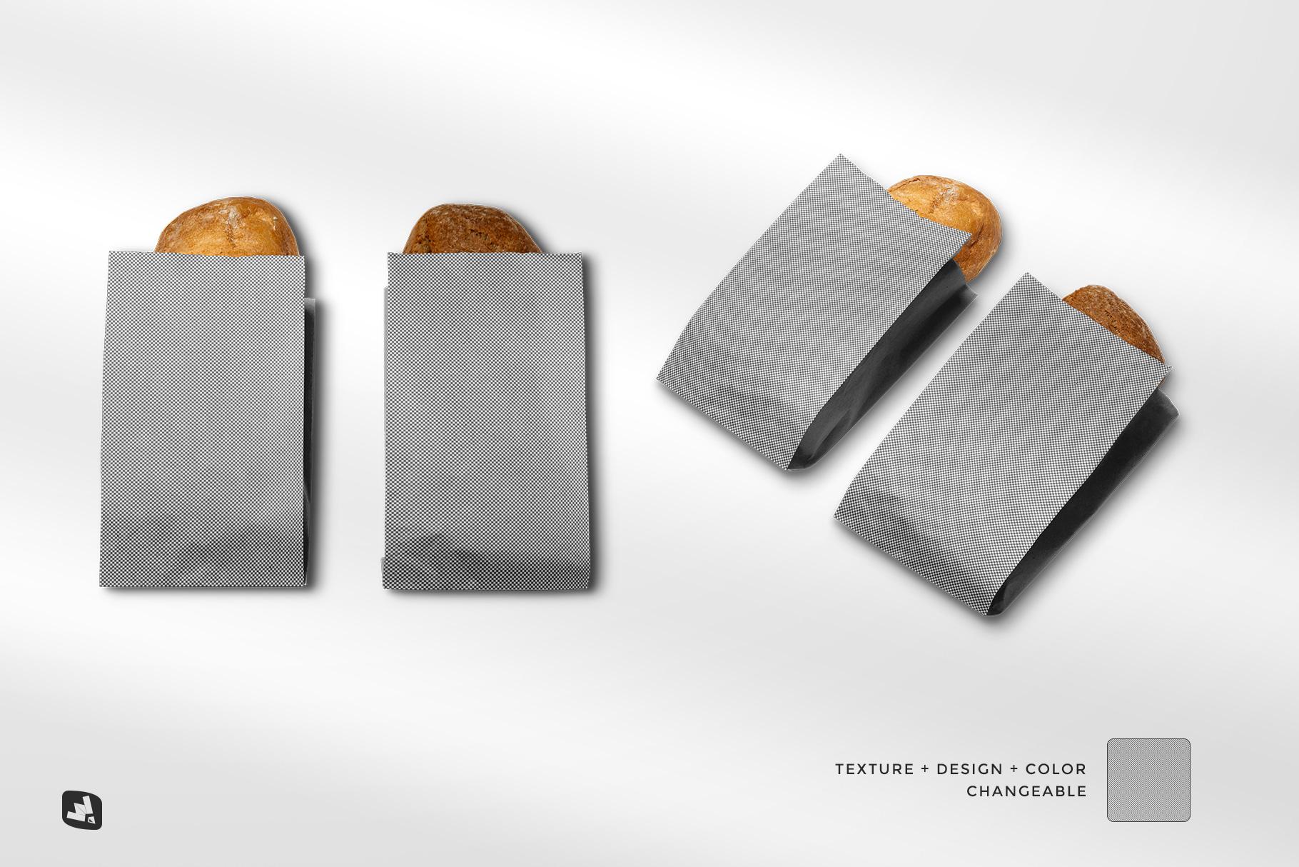 editability of the kraft paper bakery branding mockup