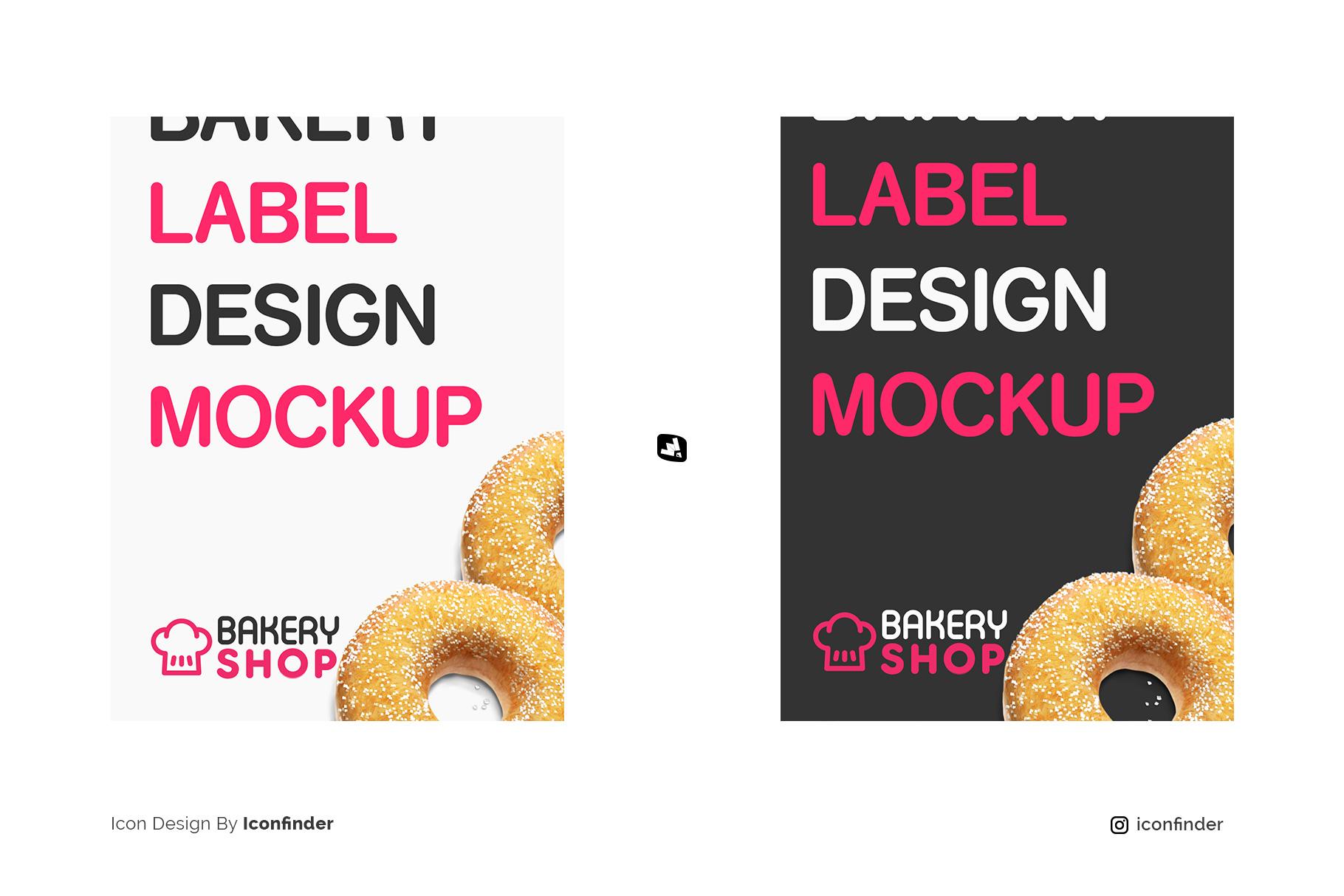 designer's credit of the kraft paper bakery branding mockup