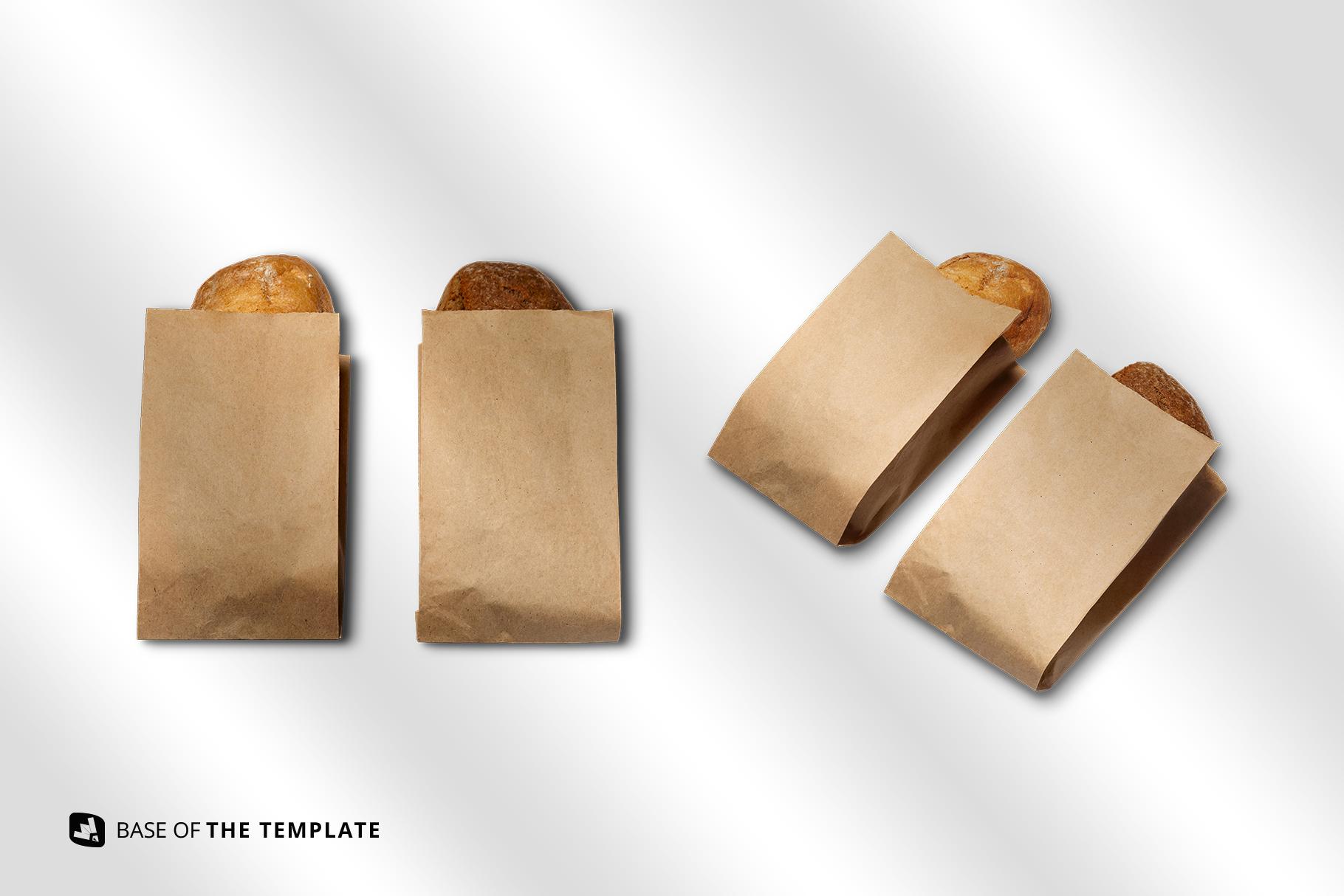 base images of the kraft paper bakery branding mockup