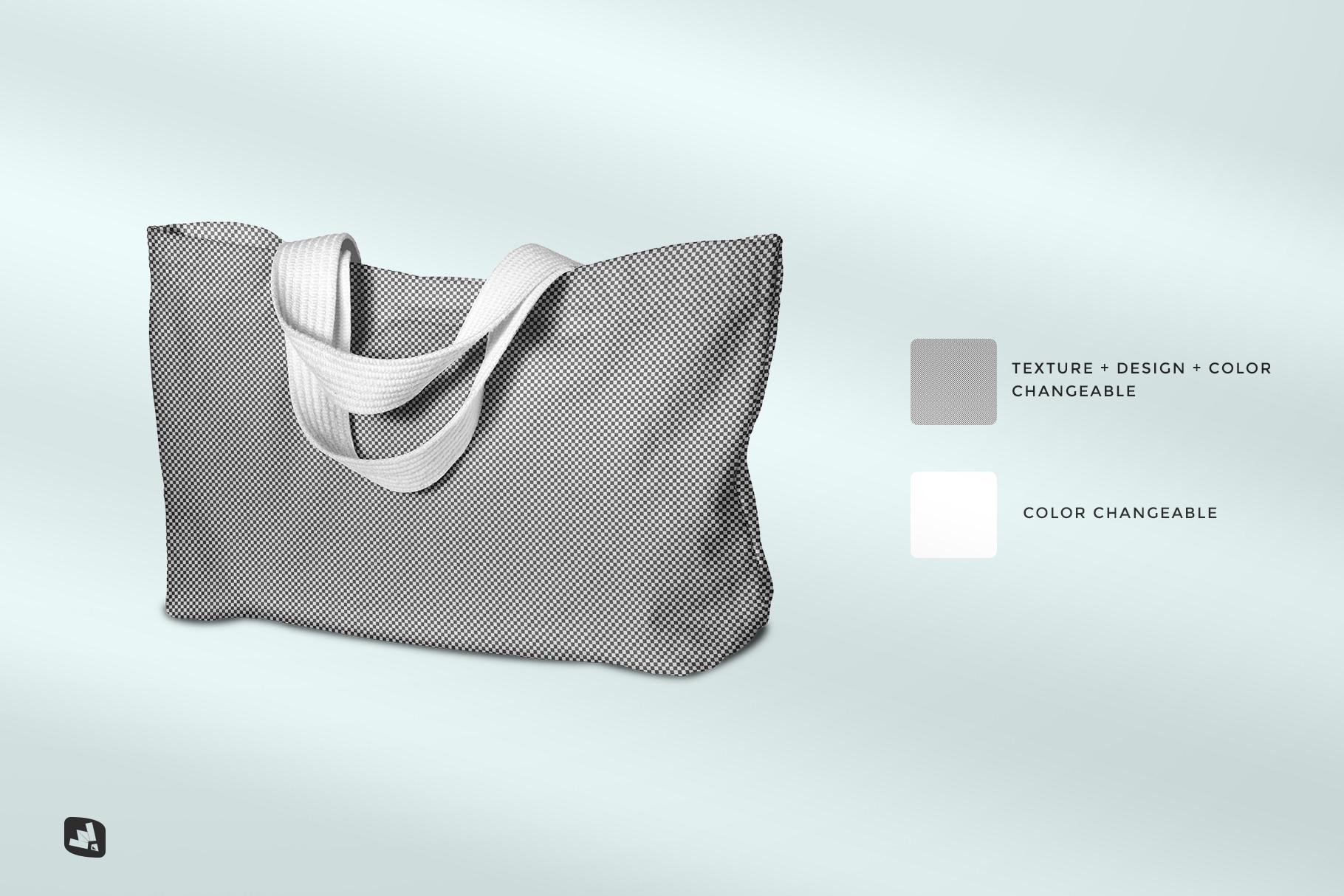 editability of the reusable cotton cloth bag mockup