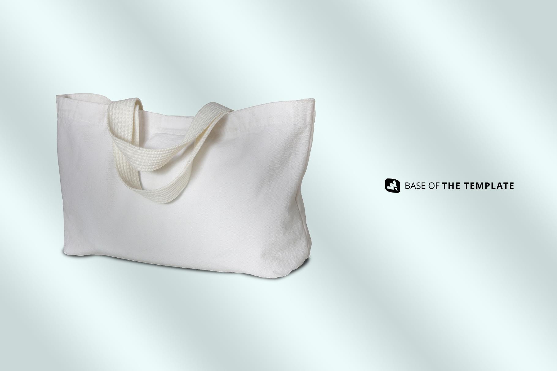 base image of the reusable cotton cloth bag mockup