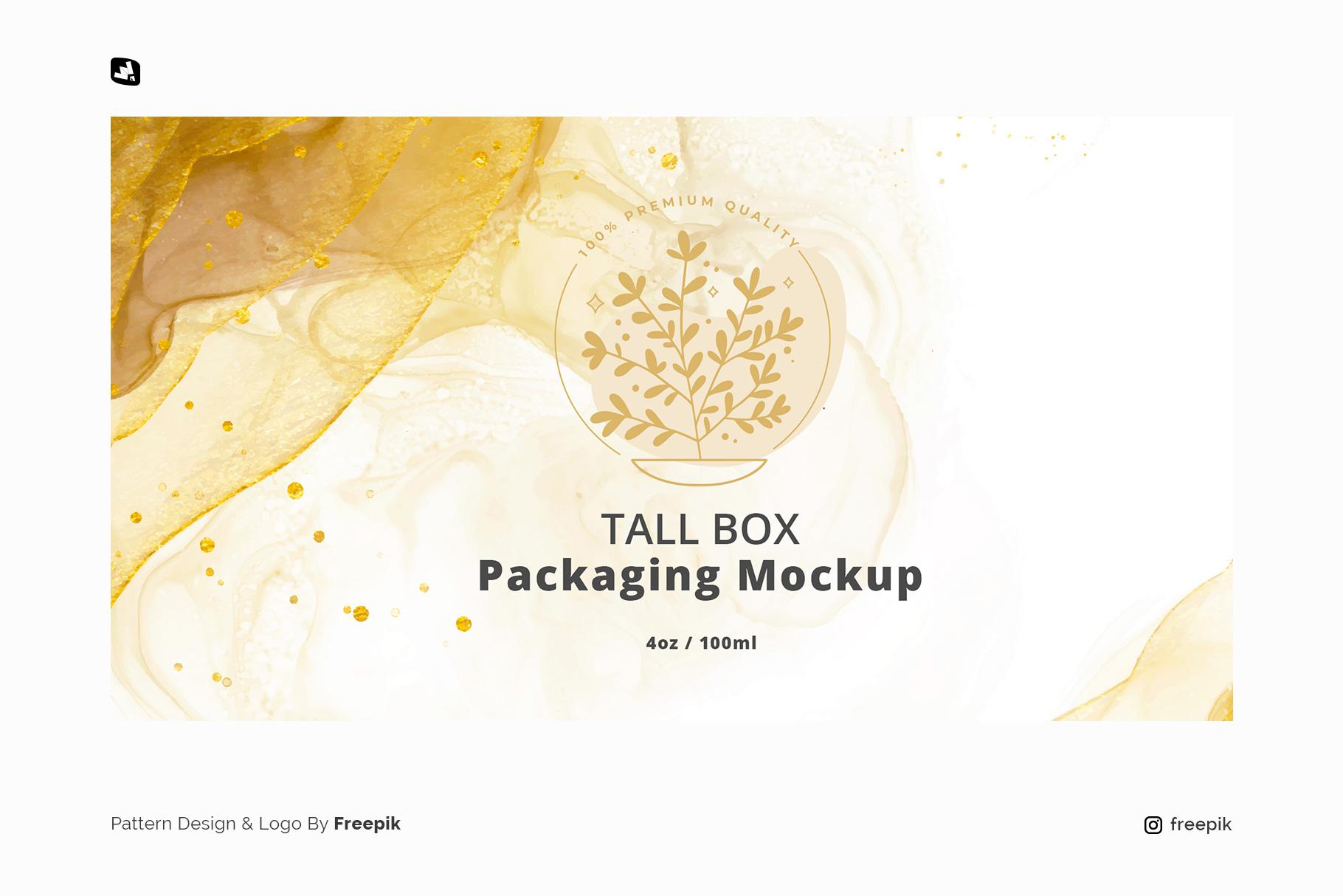 designer's credit of the glass cosmetic jar packaging mockup