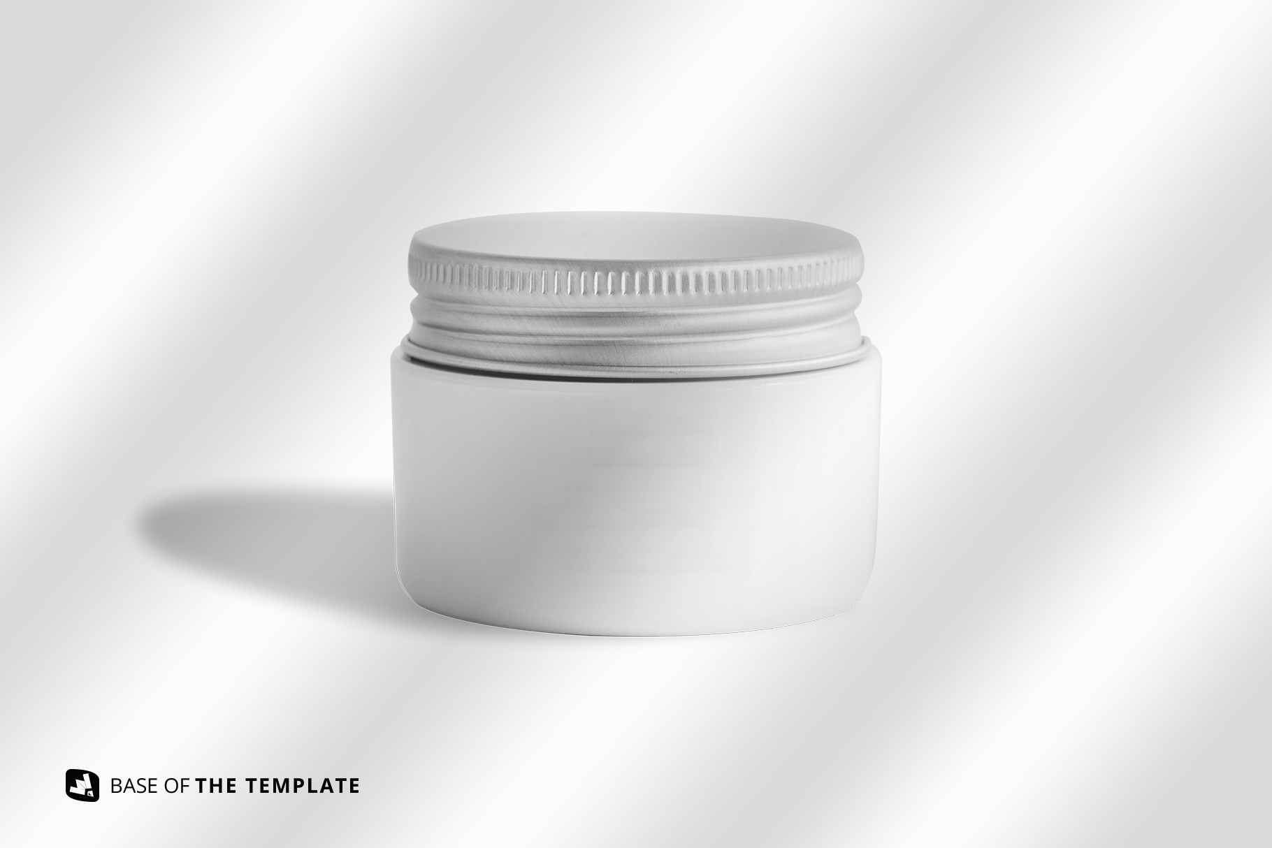 base image of the glass cosmetic jar packaging mockup