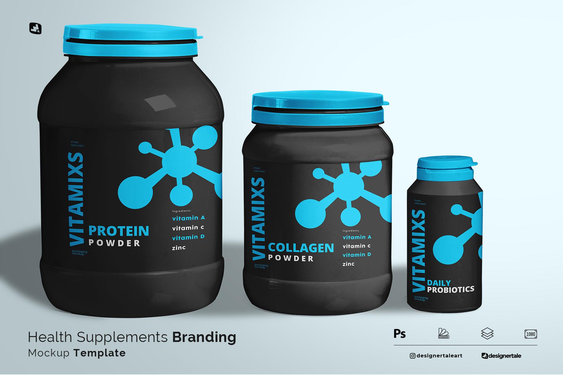 health supplements branding mockup