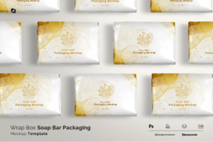 wrap box soap bar packaging mockup